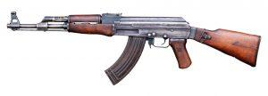 Photographie d'une vraie AK-47