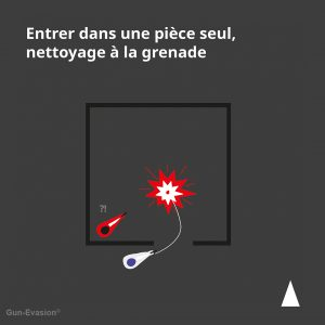 Nettoyage pièce à la grenade en CQB Gun-Evasion