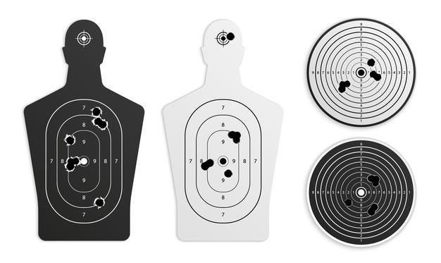 Les différentes cibles en Airgun