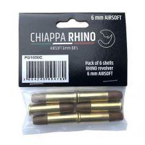 6 Douilles pour Chiappa Rhino Airsoft compatibles Dan Wesson