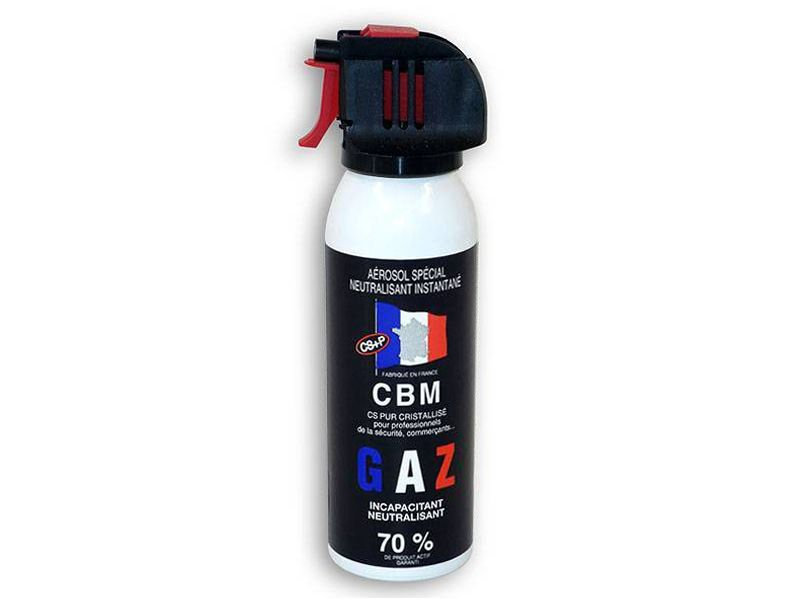 AEROSOL DE DEFENSE ANTI AGRESSION GAZ CS 100ML NF 70%