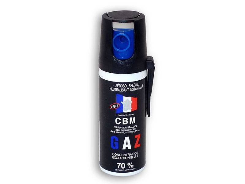 AEROSOL DE DEFENSE ANTI AGRESSION GAZ CS 50ML NF 70%