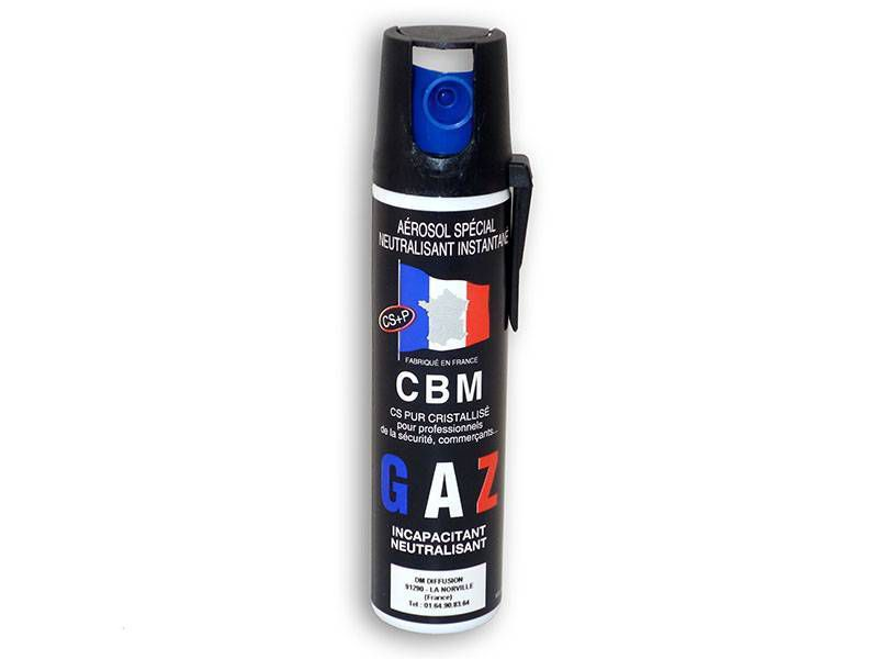 AEROSOL DE DEFENSE ANTI AGRESSION GAZ CS 75ML NF 70%