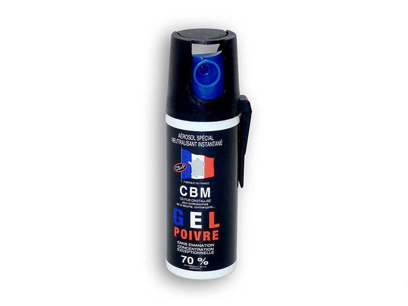 AEROSOL DE DEFENSE ANTI AGRESSION GEL POIVRE 50ML NF 70%