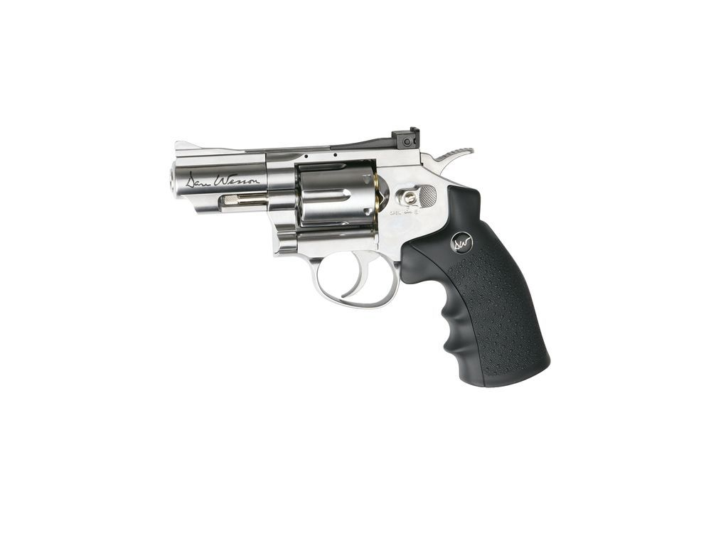 AIRGUN DAN WESSON CO2 2,5\'\' CHROME FULL METAL PLOMBS 4.5