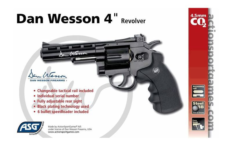 AIRGUN DAN WESSON CO2 4\'\' NOIR FULL METAL BBS 4.5