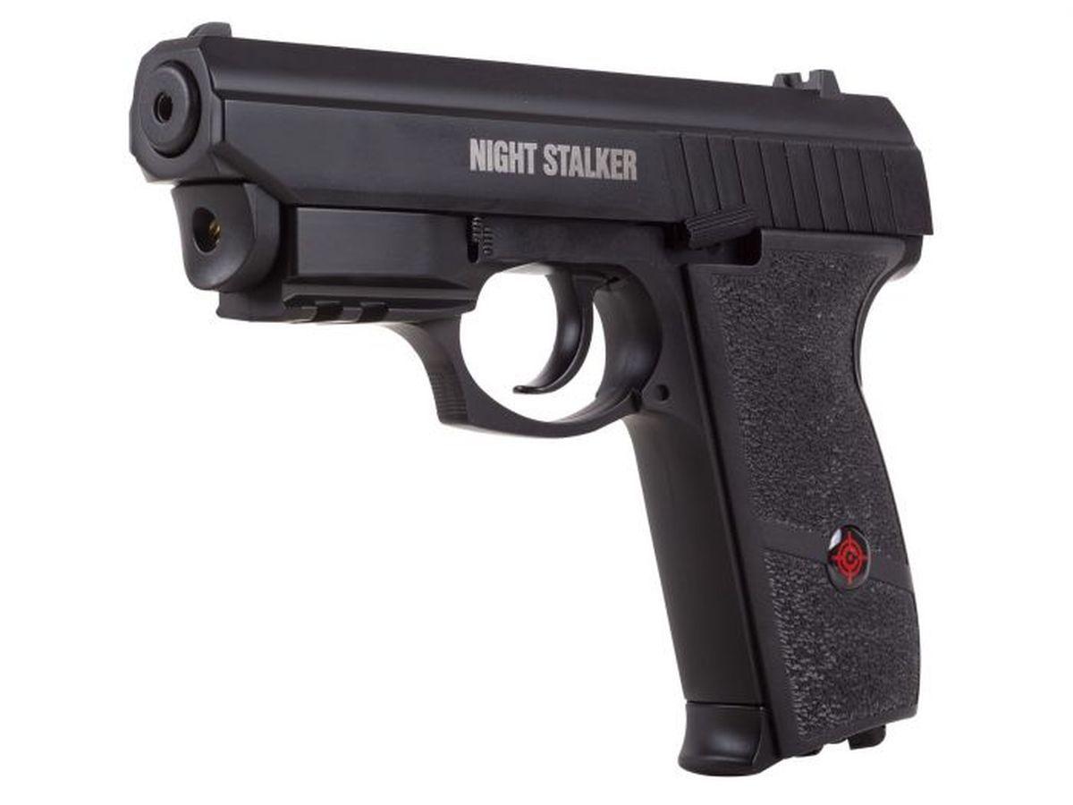 Airgun Pistolet Crosman Night Stalker Billes acier 4,5 CO2 3,7 J Laser intégré