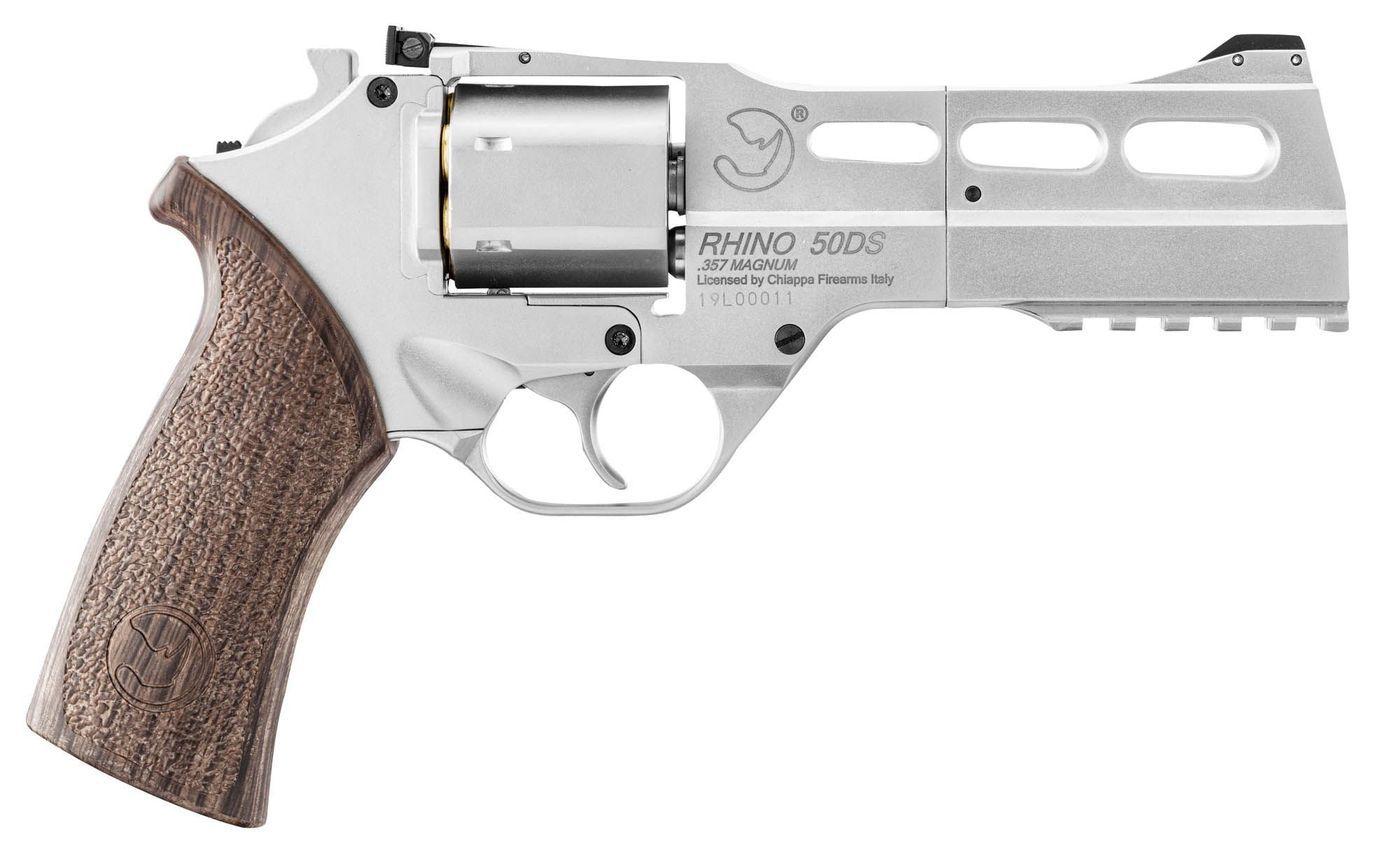 Airgun Revolver Chiappa Rhino 50 DS plombs et billes acier 4,5mm 3,5J Nickel