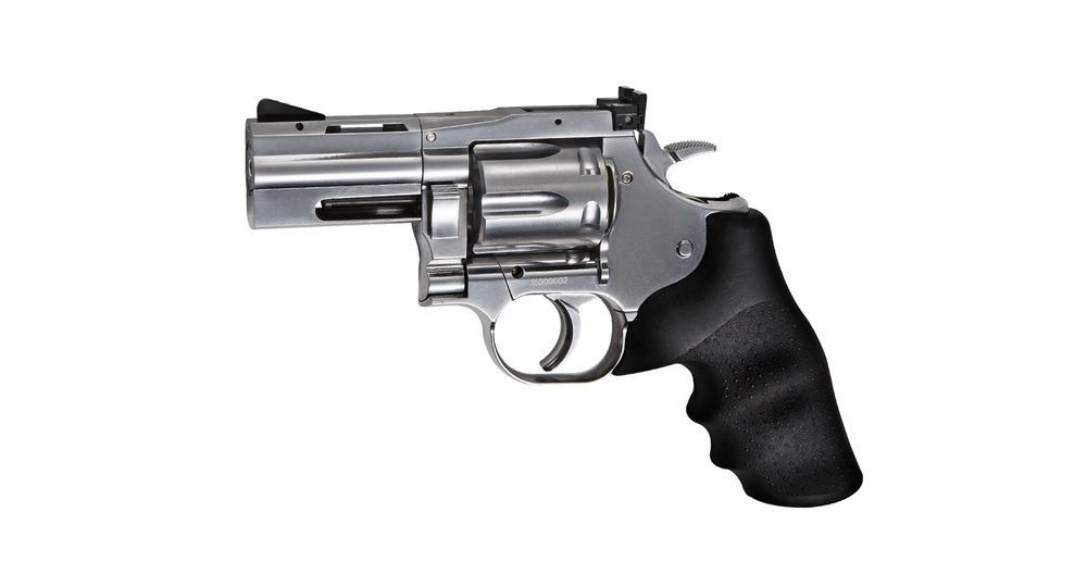 AIRGUN REVOLVER DAN WESSON 715 CO2 2.5\'\' SILVER 4.5 PLOMBS