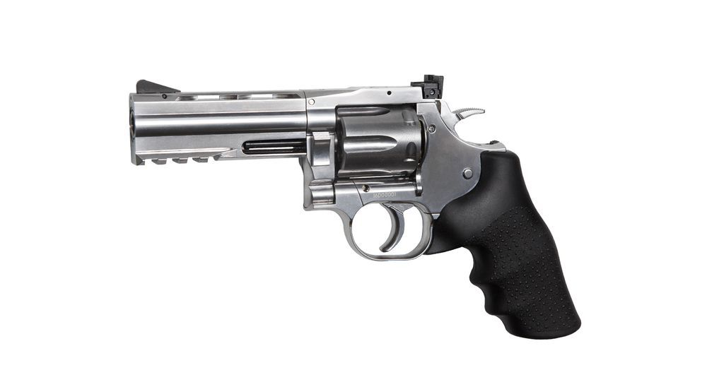 AIRGUN REVOLVER DAN WESSON 715 CO2 4\'\' SILVER 4.5 PLOMBS