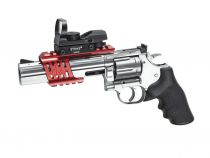 AIRGUN REVOLVER DAN WESSON 715 CO2 6\'\' CHROMÉ 4.5 BBS