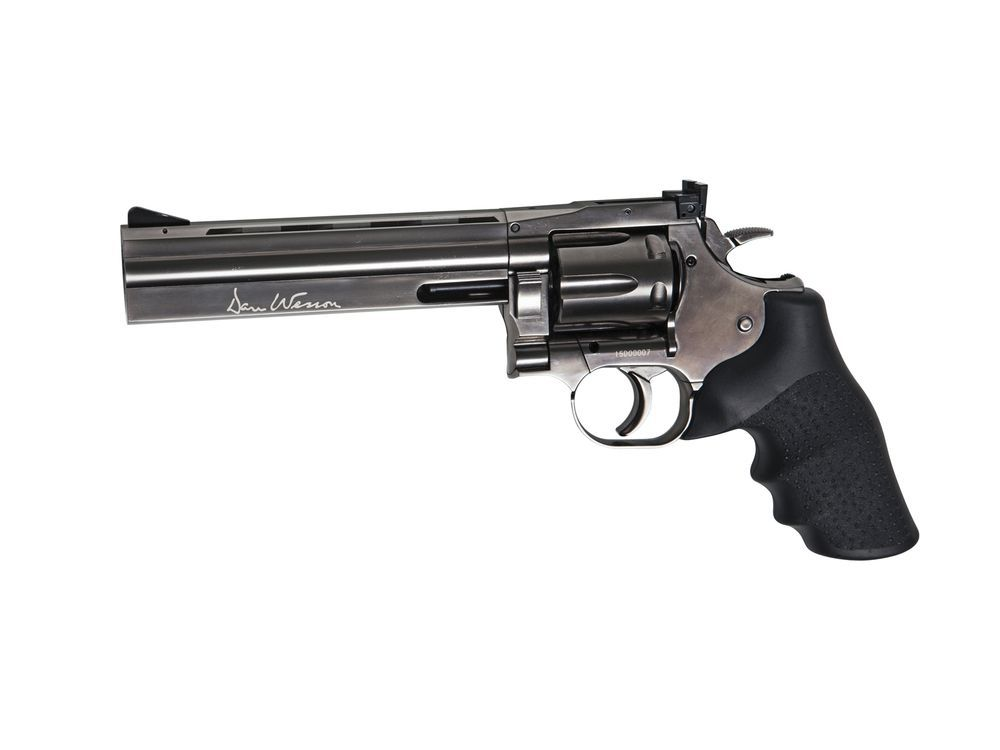 AIRGUN REVOLVER DAN WESSON 715 CO2 6\'\' STEEL GREY 4.5 PLOMBS
