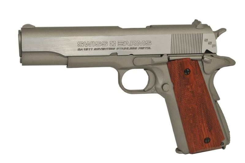 AIRGUN SA 1911 SEVENTIES STAINLESS CO2 4.5 BLOWBACK