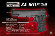 AIRGUN SA 1911 TACTICAL RAIL BLOWBACK CO2 FULL METAL