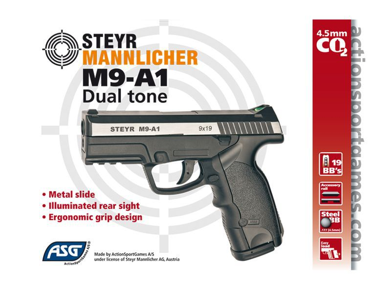AIRGUN STEYR M9-A1 DUAL TONE FULL METAL