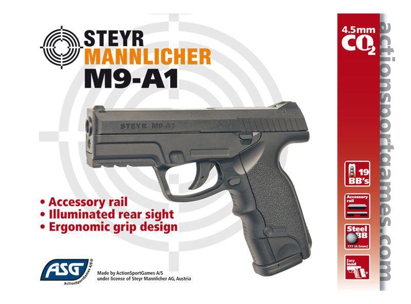 AIRGUN STEYR M9-A1 NOIR