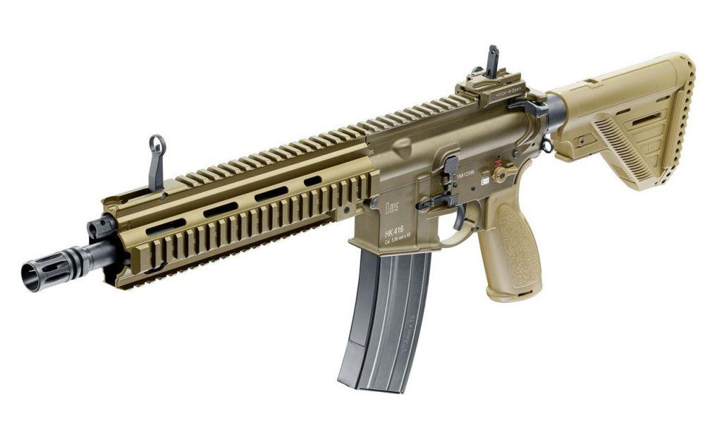 Airsoft HK416 A5 Tan Umarex full métal Gaz GBBR