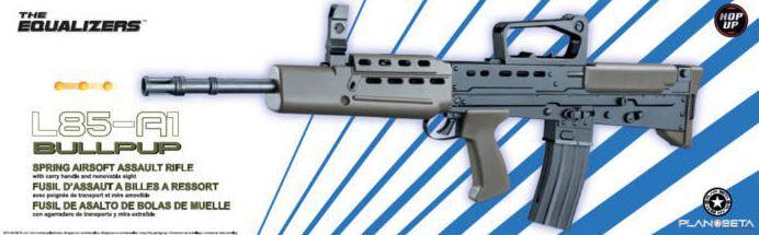 Airsoft Plan Beta Fusil L85-A1 Bullpup Noir / OD SPRING 0.7J