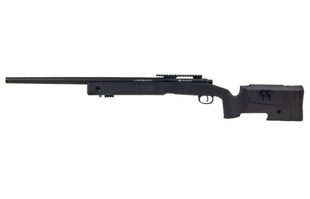 Airsoft Sniper FN SPR A2 Bolt Spring 30 BBS canon métal 1,7 J Noir