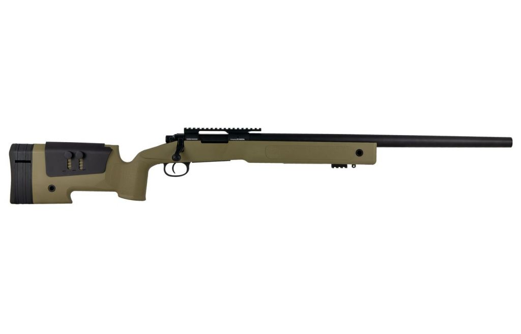 Airsoft Sniper FN SPR A2 Bolt Spring 30 BBS canon métal 1,7 J Tan