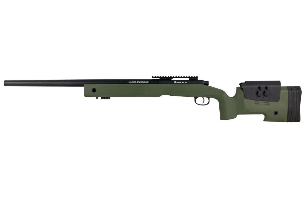 Airsoft Sniper FN SPR A2 Bolt Spring 30 BBS canon métal 1,7 J Vert OD