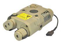 AN / PEQ 15 battery case AVEC laser rouge classe 2