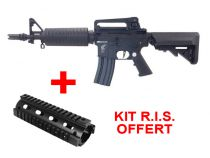 Apex Fast Attack CQBR M4 Noir SLV Airsoft AEG Pack Complet + Kit RIS