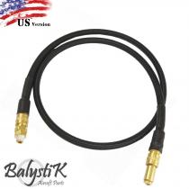 Balystik - Ligne complète HPA haut debit tressée nylon Noire (version US)