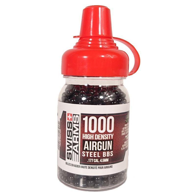 BIBERON DE 1000 BILLES ACIER NOIRE 4.5 MM POUR AIRGUN