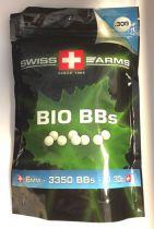 BILLE BIO KING ARMS 0.30 GR BLANCHE 6MM 3350 BILLES