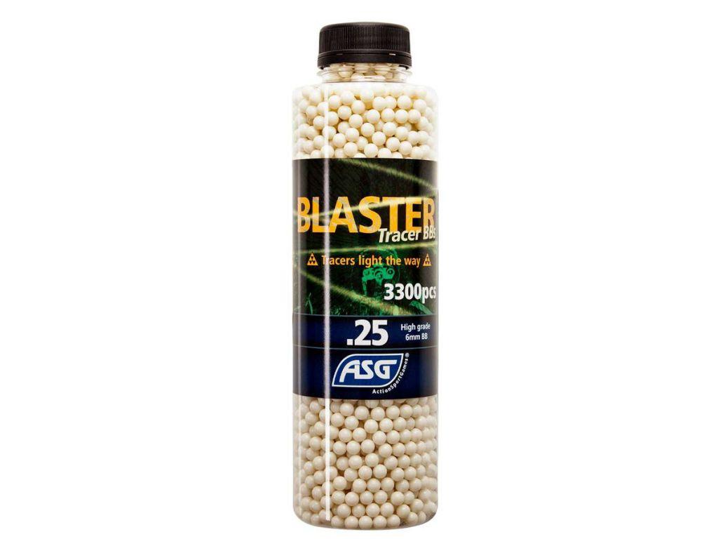Billes 6 MM 0,25g Blaster Tracer - bouteille de 3300 billes