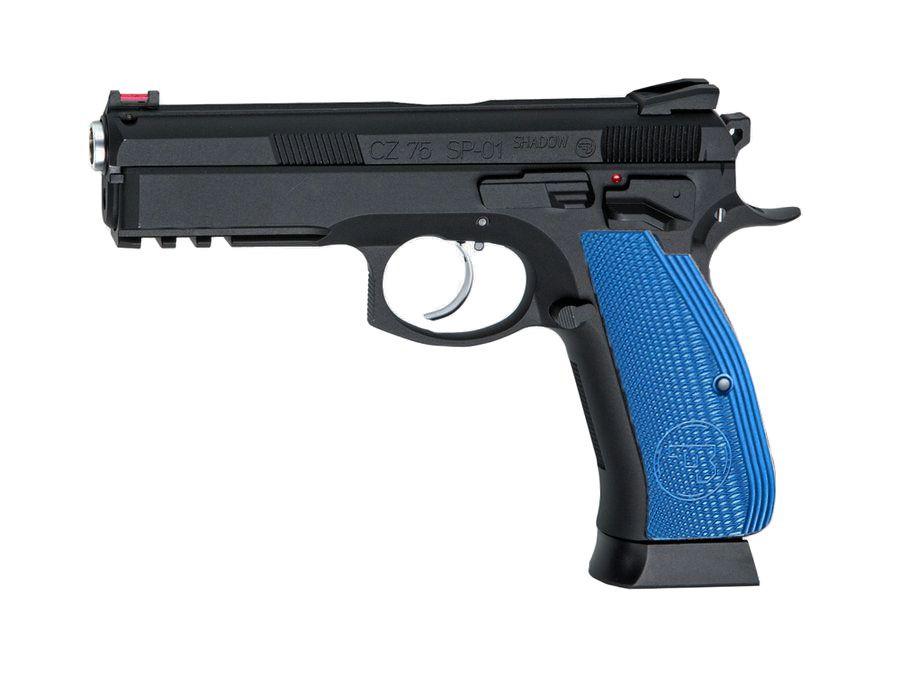 Blue Custom CZ SP-01 Shadow full metal GBB Gaz Blowback
