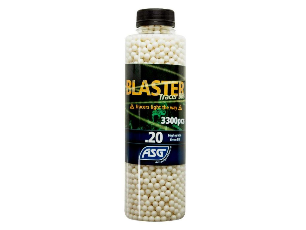 Bouteille 3300 Billes Airsoft 0.20g BLASTER TRACER ASG