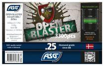 Bouteille 3300 Billes Airsoft 0.25g BIO OPEN BLASTER ASG