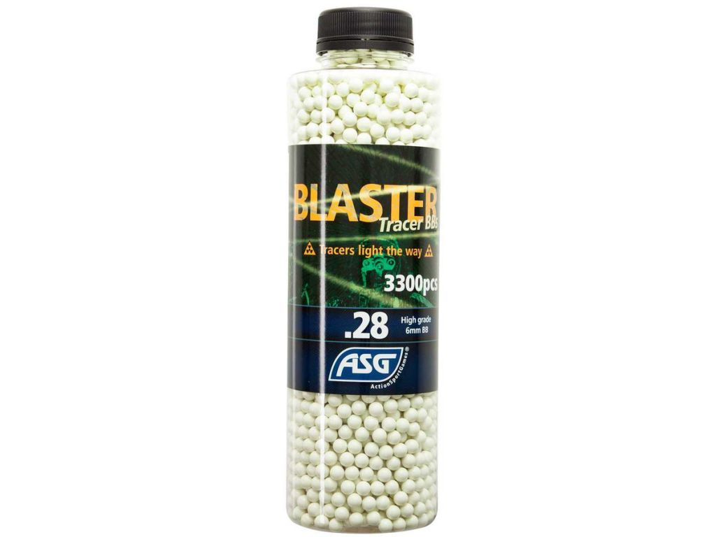 Bouteille 3300 Billes Airsoft 0.28g BLASTER TRACER ASG