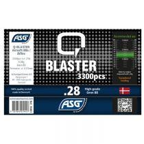 Bouteille 3300 Billes Airsoft 0.28g Q-BLASTER ASG