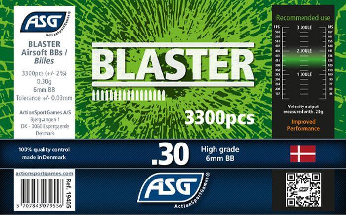 Bouteille 3300 Billes Airsoft 0.30g BLASTER ASG