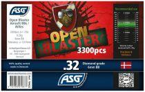 Bouteille 3300 Billes Airsoft 0.32g BIO OPEN BLASTER ASG