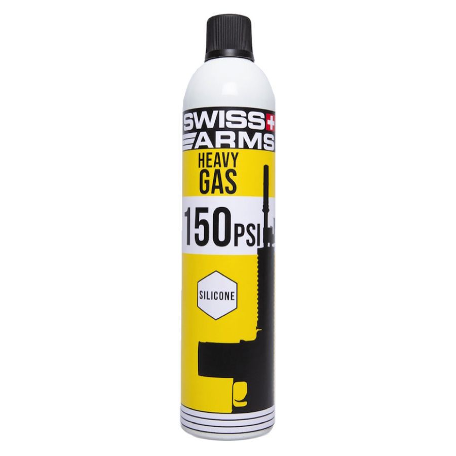 Bouteille de gaz Swiss Arms Jaune 150 PSI Siliconé 600 ml