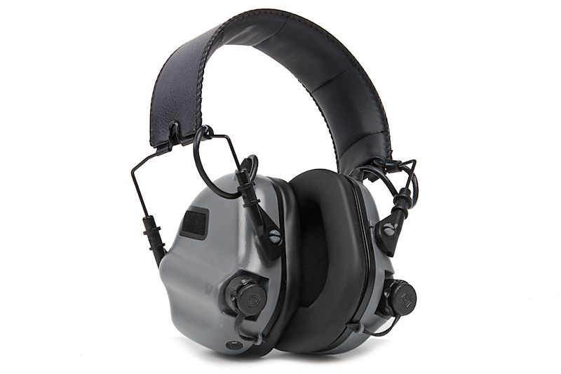 CASQUE DE TIR ANTI-BRUIT GRIS AVEC SUPPRESSION DE BRUIT