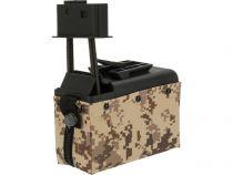 Chargeur Ammobox A&K Digital Desert 1500 bbs électrique rechargeable pour M249