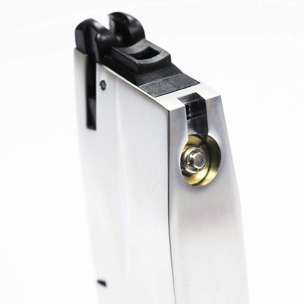 Chargeur Gaz Chrome 25 billes pour M9 & M92 WE airsoft