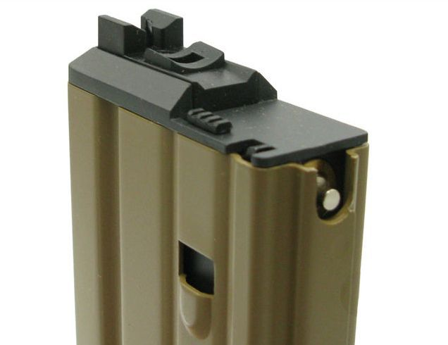 Chargeur Gaz Tan pour M4 et Scar Open Bolt GBBR WE Airsoft