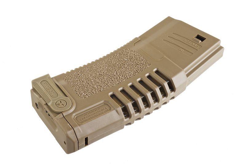CHARGEUR HI-CAP 300 BBS DESERT POUR M4/M16 ARES AMOEBA AEG