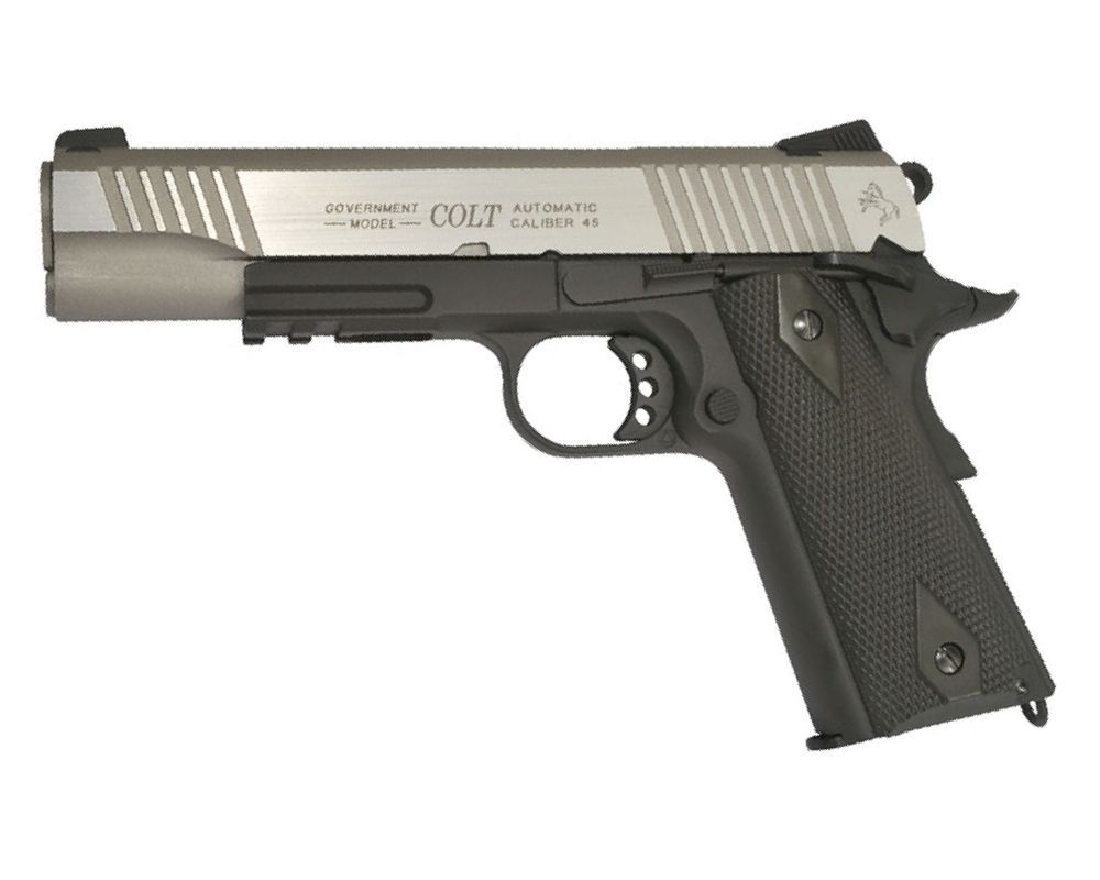 COLT 1911 M45A1 RAIL GUN CO2  BLOWBACK FULL METAL