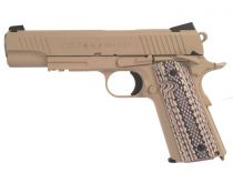 COLT 1911 M45A1 RAIL GUN CO2 TAN BLOWBACK FULL METAL