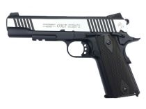 COLT 1911 RAIL GUN CO2 BICOLORE BLOWBACK FULL METAL