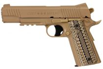 COLT 1911 RAIL GUN CO2 TAN CULASSE FIXE FULL METAL