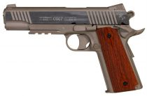 COLT 1911 RAIL GUN STAINLESS CULASSE METAL FIXE