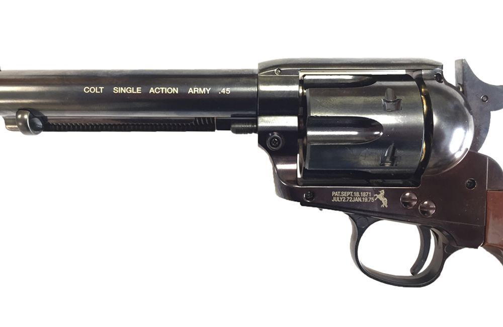 COLT 45 PEACEMAKER CO2 AIRGUN 4.5 FULL METAL BLUE